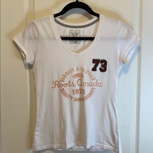 Roots Athletics White Tee - Women's Size S